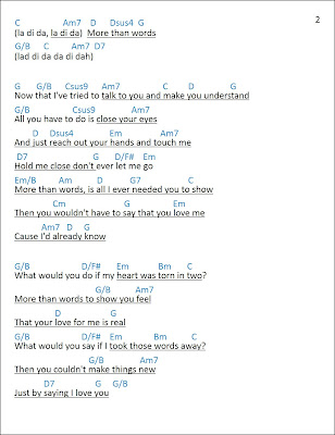 Mattwins]: More Than Words Lyrics and Chords - Extreme