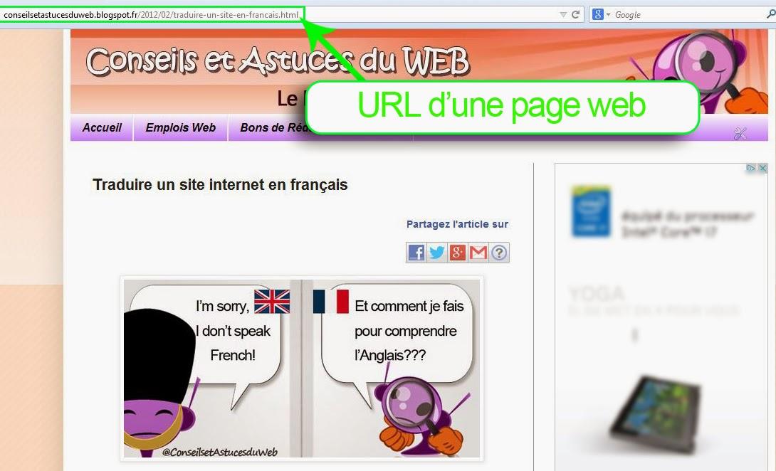 Comment traduire un site internet en français