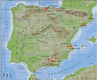 mapa asentamientos humanos prehistoria españa