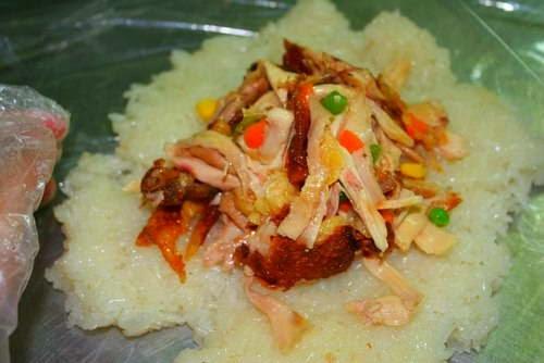 Vietnamese Rice Recipes - Gà bọc xôi chiên phồng