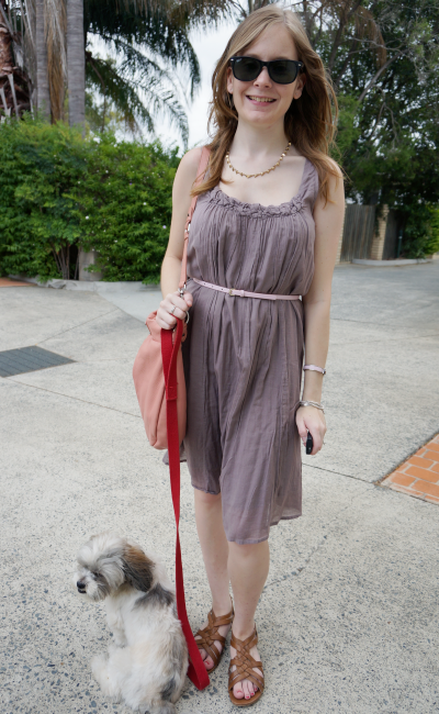 dressing for Queensland heatwave Aussie blogger belted cotton dress