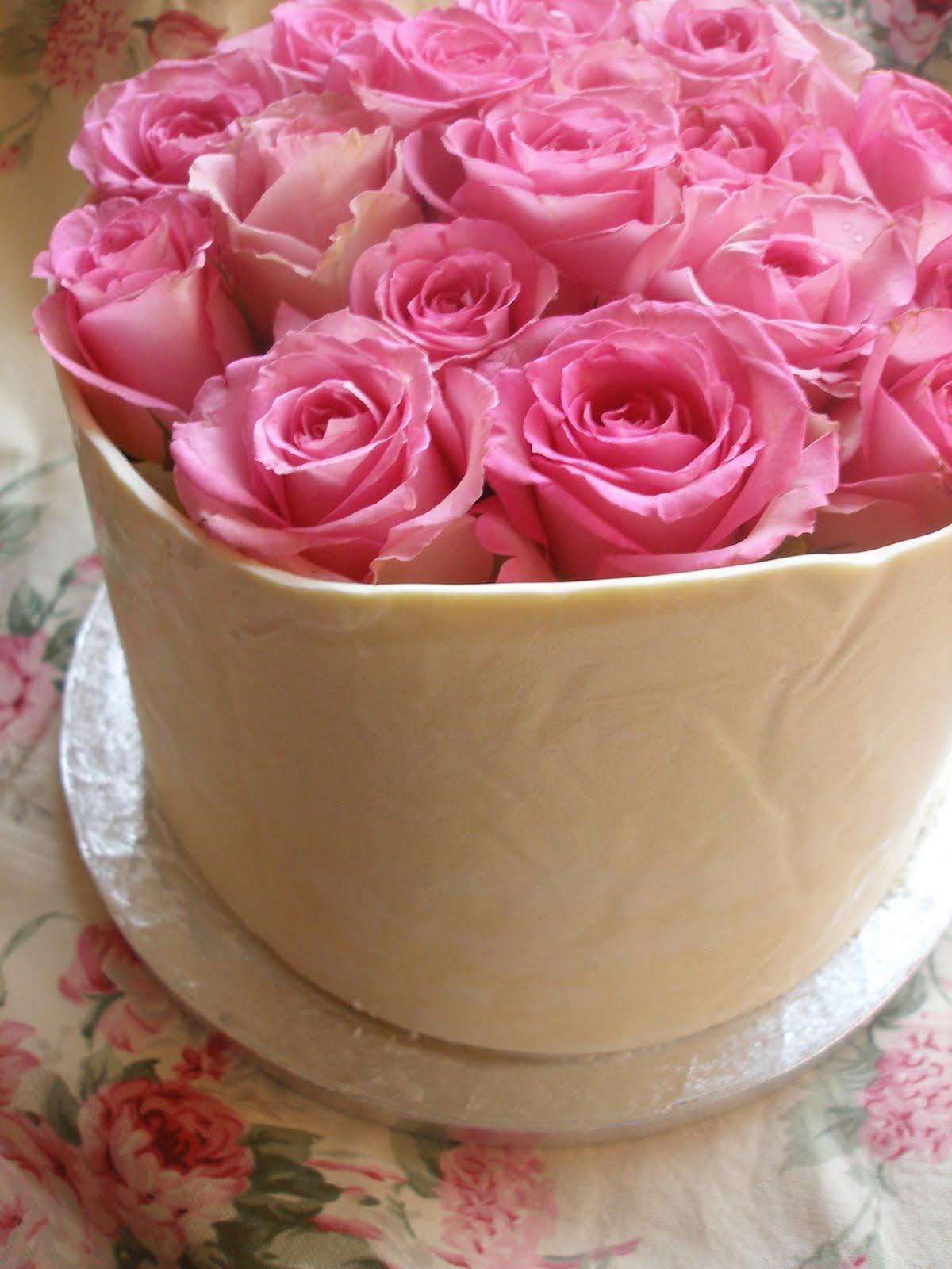 White Mice Pink Meringues White Chocolate Raspberry Birthday Cake