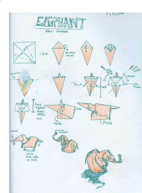 Origami Elephant Instructions Image Information