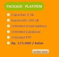 Package Platinum Anekahosting.com ,