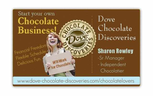 Dove chocolate discoveries business cards dove chocolate discoveries