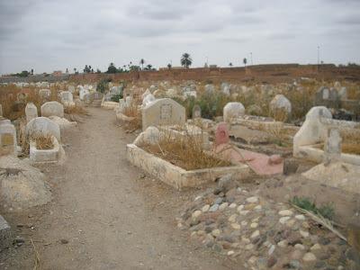 A Muslim burial ground, Morocco