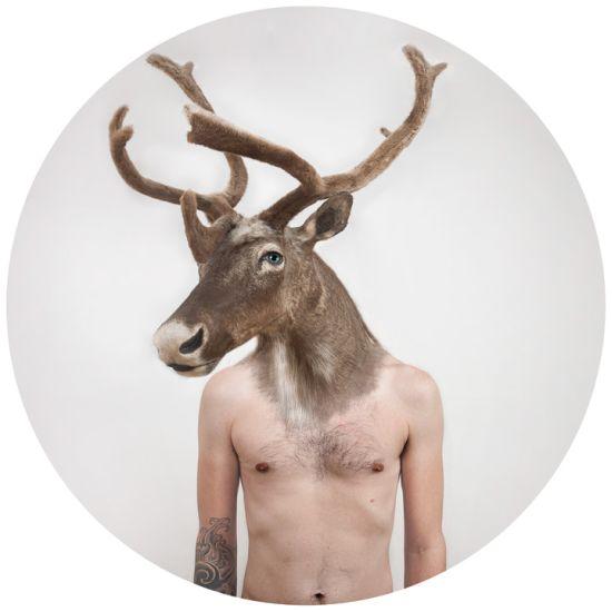Ulric Collette fotografia surreal photoshop Teriantropia - Ligação humano/animal