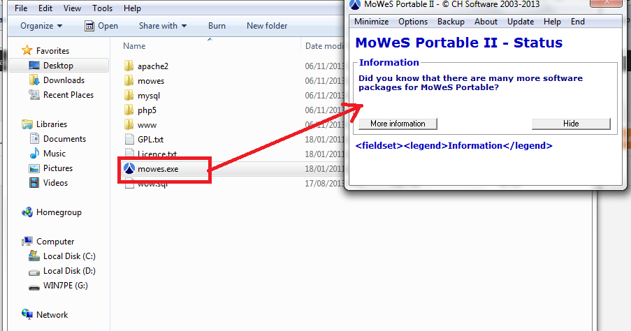 tiarapess: Preview Mowes Portable Web Server