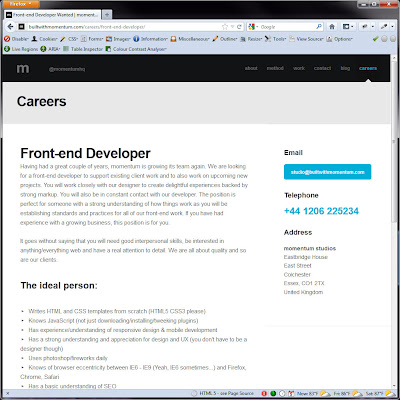 Screen shot of http://builtwithmomentum.com/careers/front-end-developer/.