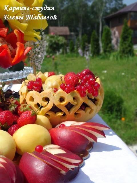вазочка из тыквы для ягод