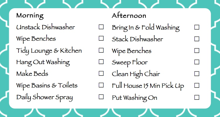 Daily/Weekly House Cleaning Schedule   April Calendar   April Calendar