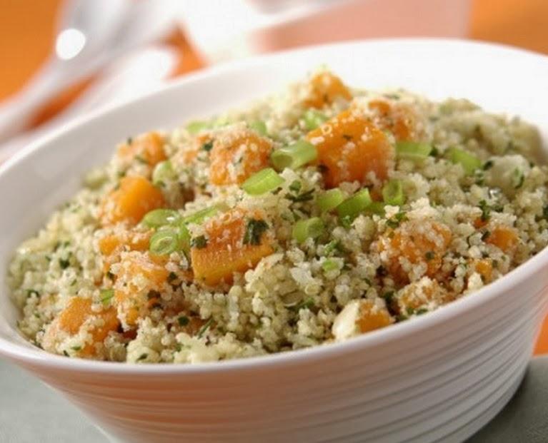 Quinoa com Abóbora (vegana)