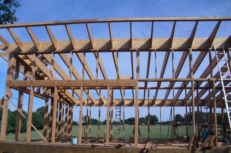 Notre maison la catiche la charpente de la maison for Isolation copeaux de bois