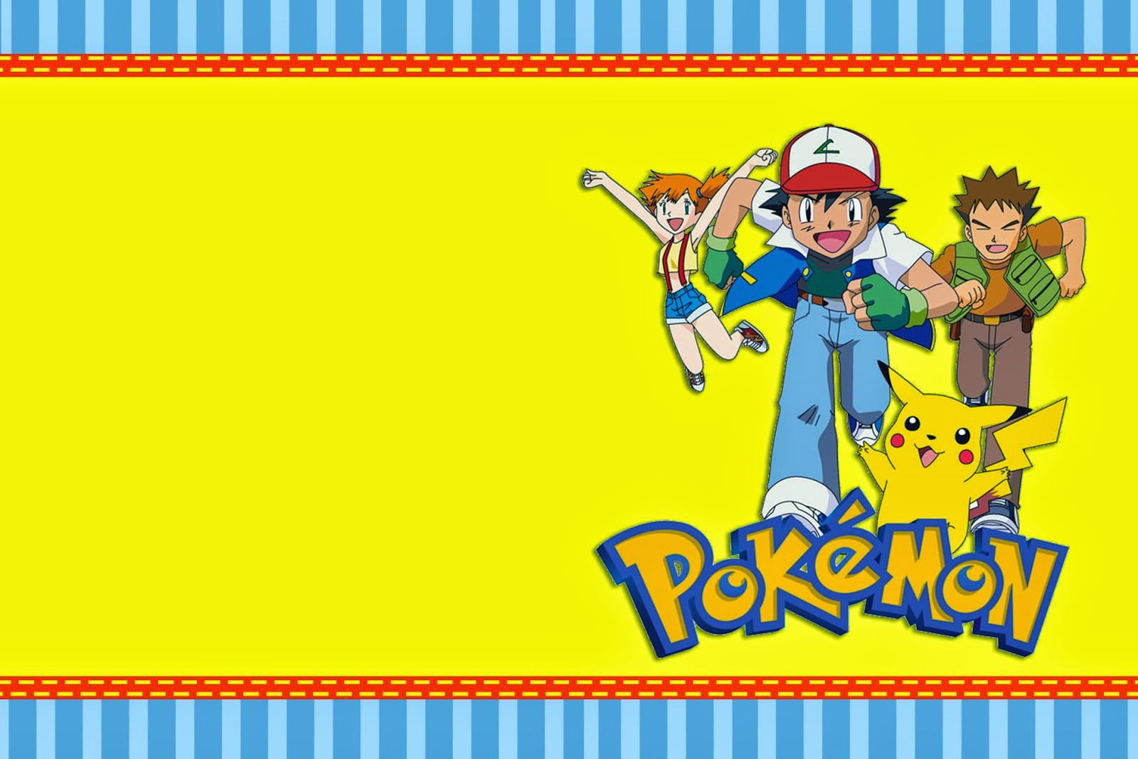 pokemon free printable invitations labels or cards - Free Printable Pokemon Pictures