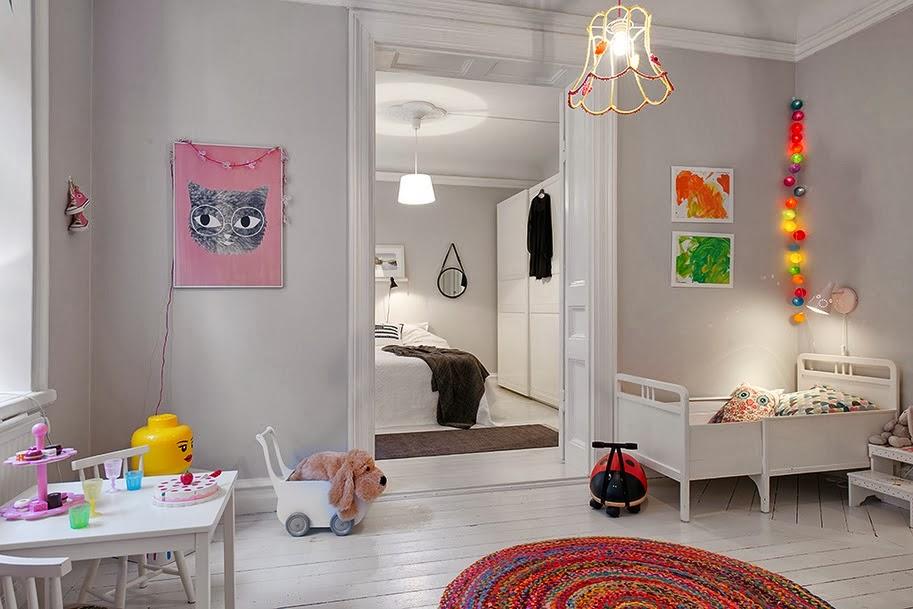 Decoraci n f cil dormitorio infantil low cost estilo for Decoracion nordica low cost