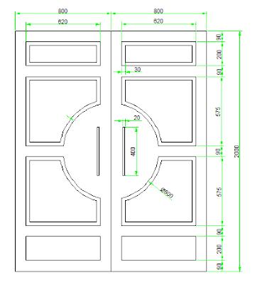 20 hari belajar Autocad 2d Hari #13 - membuat Gambar Daun Pintu