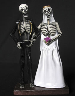 Wedding Cakes Pictures: Skeleton Wedding Cake Toppers