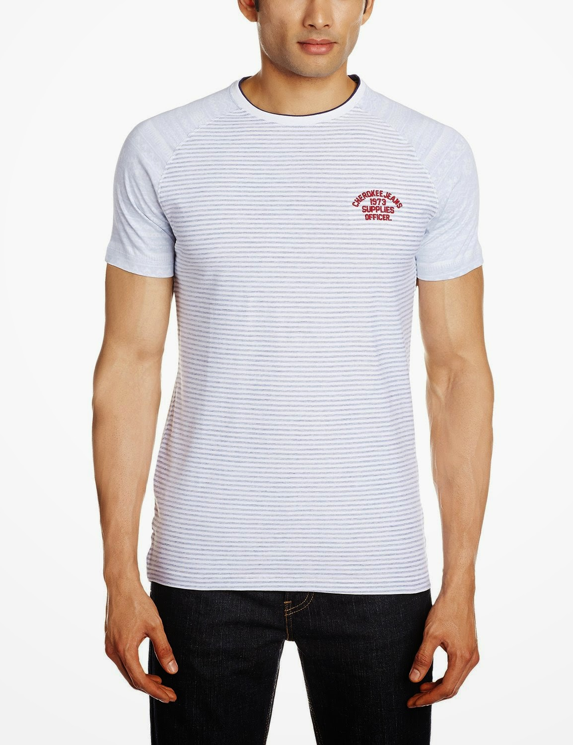 Buy Cherokee Men's Round Neck Cotton T-Shirt 60% OFF Rs. 199 only at Amazon.