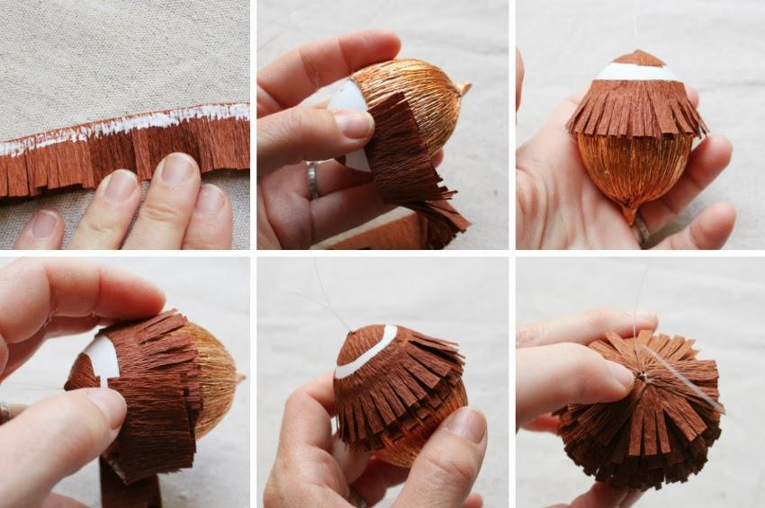 Сделать орех из бумаги своими руками