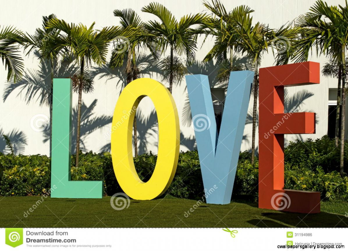 The Word LOVE With Colorful Capital Letters Royalty Free Stock