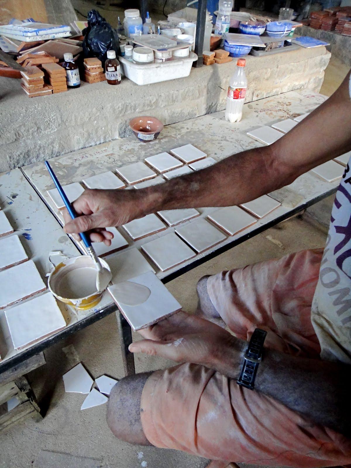 Nathalie morhange pintura decorativa azulejos - Como pintar sobre azulejos ...