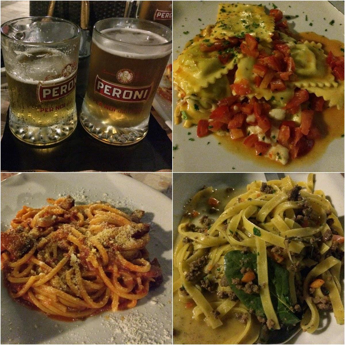 férias, Itália, Roma, hotel, turismo, dicas, massa, pasta, janta, refeição, restaurante