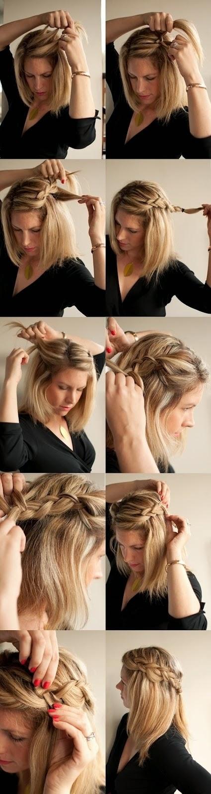 Cara Mengikat Rambut Panjang Ala Cascade Braid