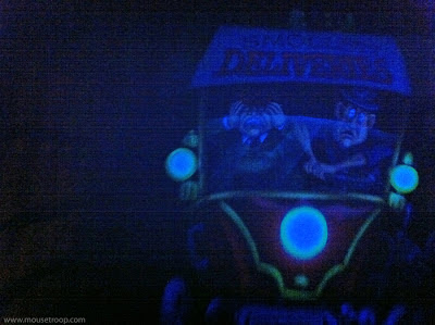 Mr. Toad's Wild Ride Disneyland interior truck delivery