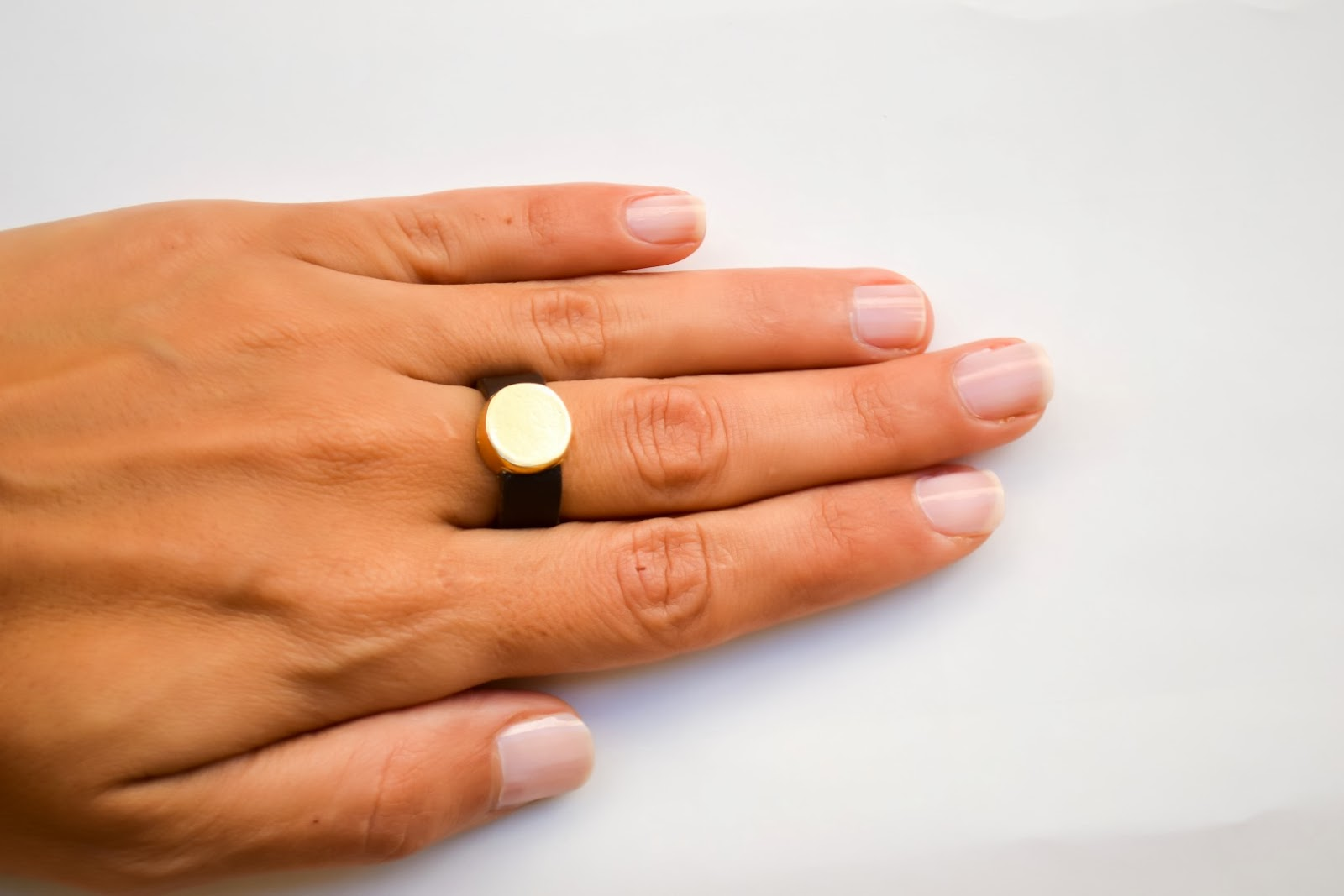 gold karma ring