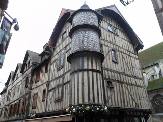 A typical street in Troyes, France