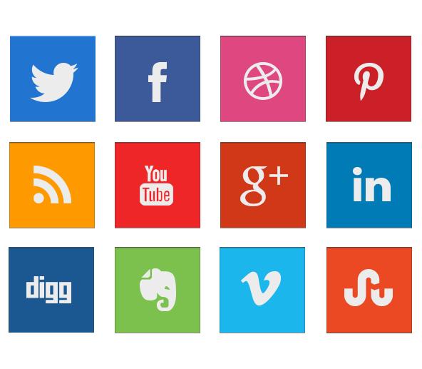 Simple Squared Social Media Free Icon