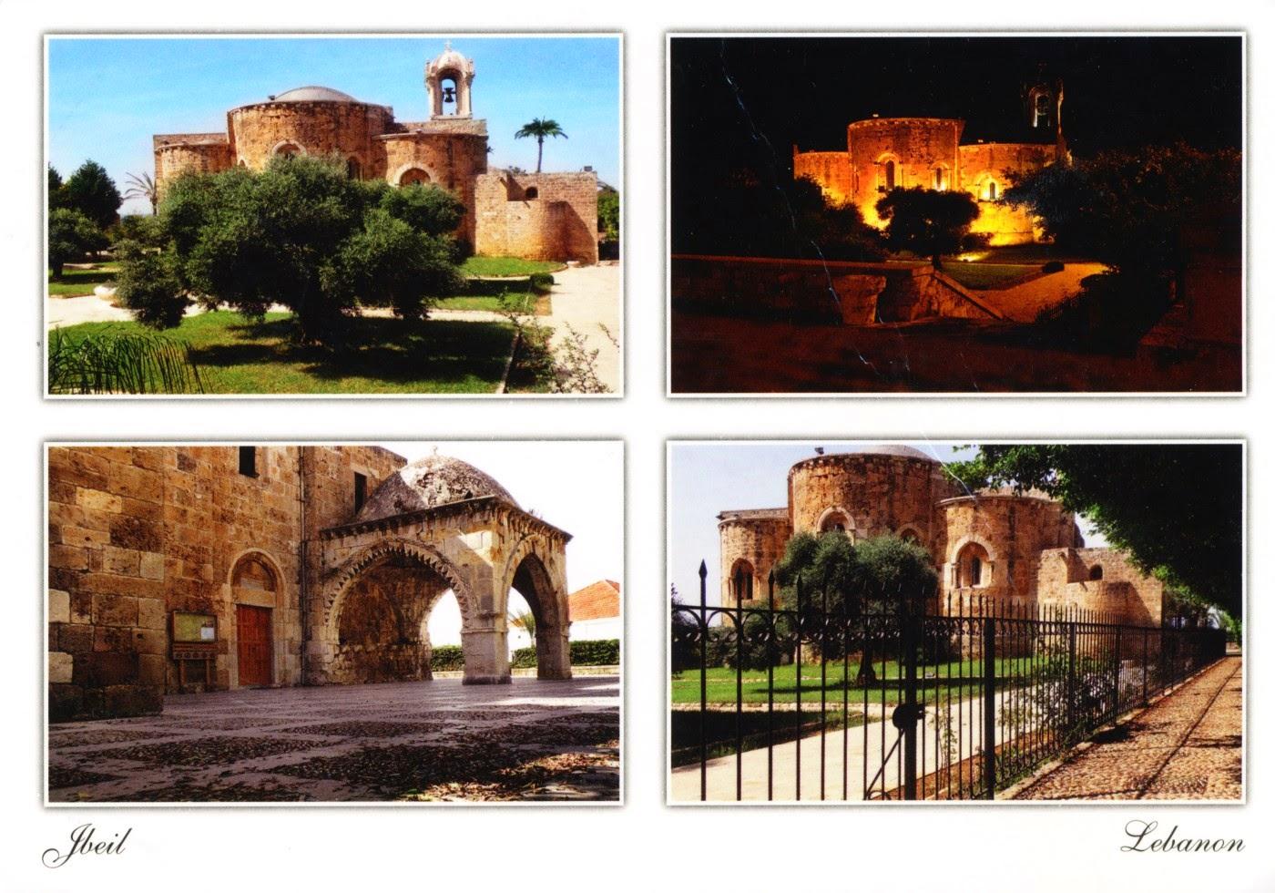 postcard, lebanon, byblos, jbeil, crusades