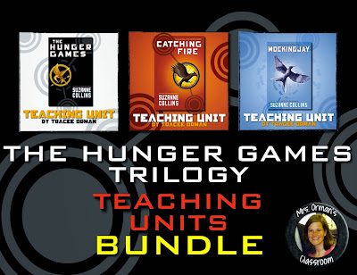 The Hunger Games Trilogy Novel Units Bundle https://www.teacherspayteachers.com/Product/Hunger-Games-Trilogy-Teaching-Units-Bundle-1840130