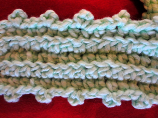 Delias Crochet Ribbed Picot Keyhole Scarf For Toddler