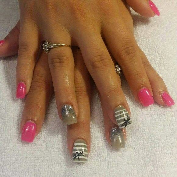Acrylic sculpts led polish silver chrome french manicure acrylics