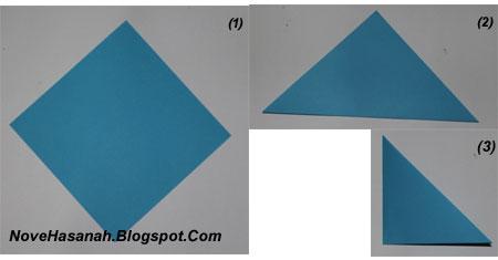 langkah-langkah melipat kertas origami untuk membuat bentuk binatang kelelawar yang unik, cocok untuk anak SD kelas 4, 5, dan 6, serta untuk pemula 1