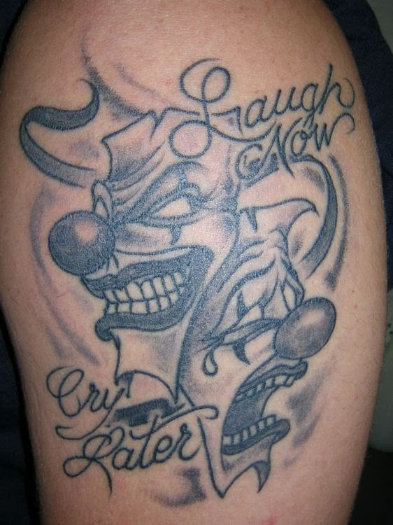 laugh now cry later tattoo by drewgovan page 15 laugh now cry later ...