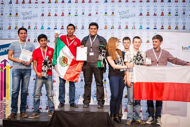 Estudiantes mexicanos triunfan en concurso de robótica más importante de Europa