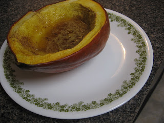 Maple-ish roasted acorn squash