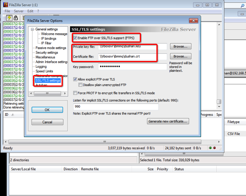 Dushan S View Secure File Transfer With Vfs Esb Ftpssl Certificates