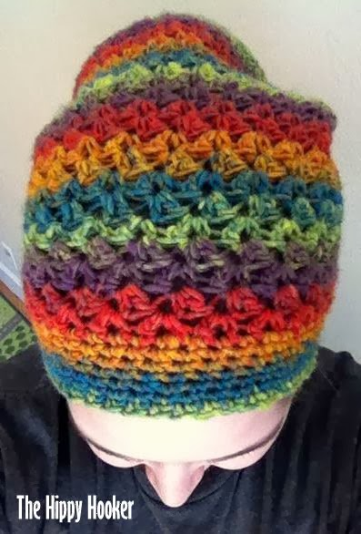 The Hippy Hooker: Rasta Slouchy Beanie - Free Crochet Pattern