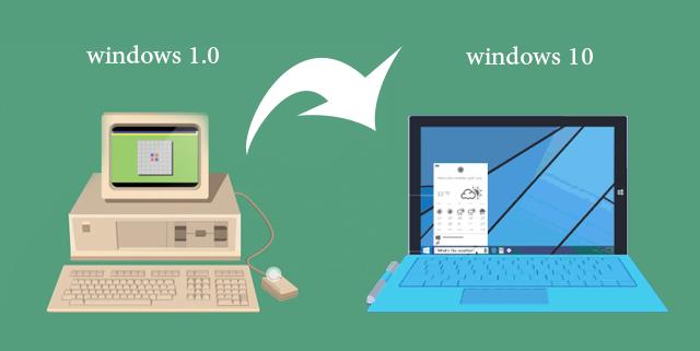 30 عاما من التطور: شاهد مراحل تطور الويندوز من أول نسخة 1.0 إلى ويندوز 10