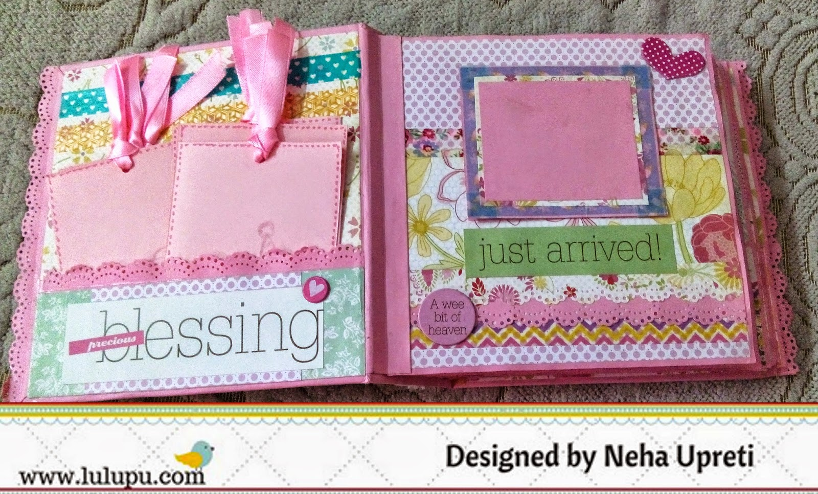 Scrapbook ideas for baby girl - Here I Have Used The Baby Girl Me My Big Ideas Kit It Comes In A 12 12 Size And Is Perfect For Making A Baby Girl Scrapbook Album