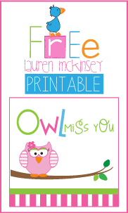 picture regarding Printable Miss You Cards called The Carver Team: Owl Skip On your own Printables by way of Lauren McKinsey
