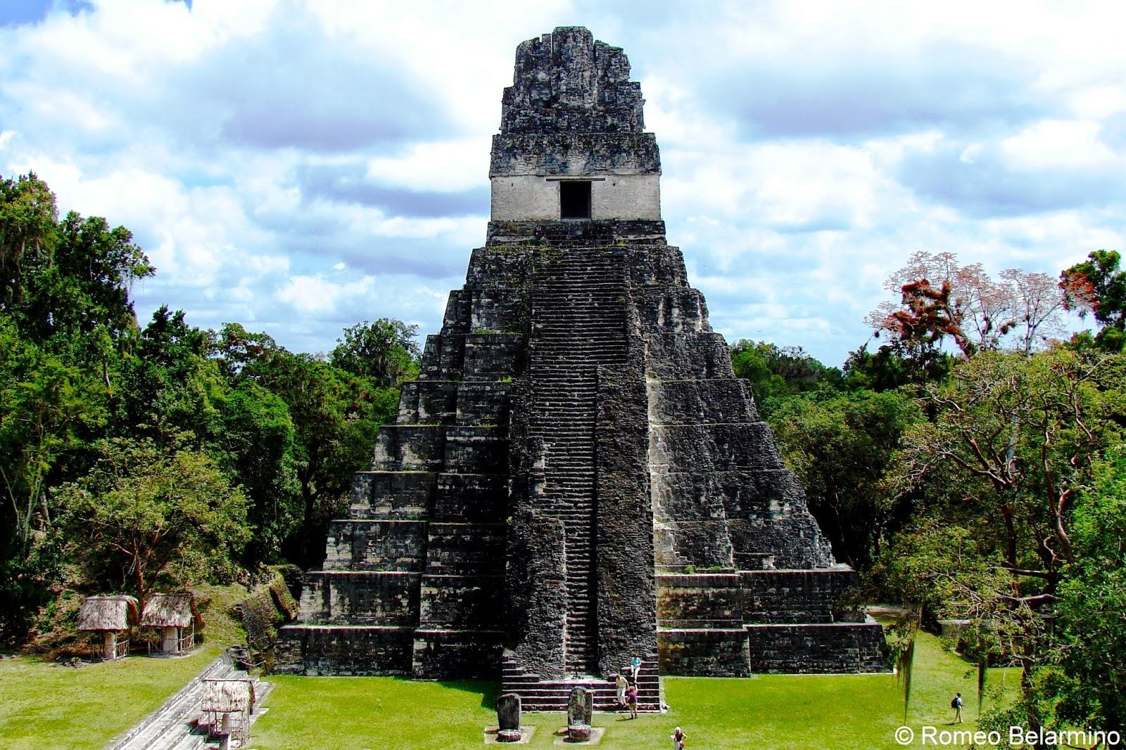 Tikal Guatemala Tikal Temple i Guatemala