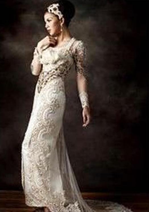 gaun pernikahan tradisional