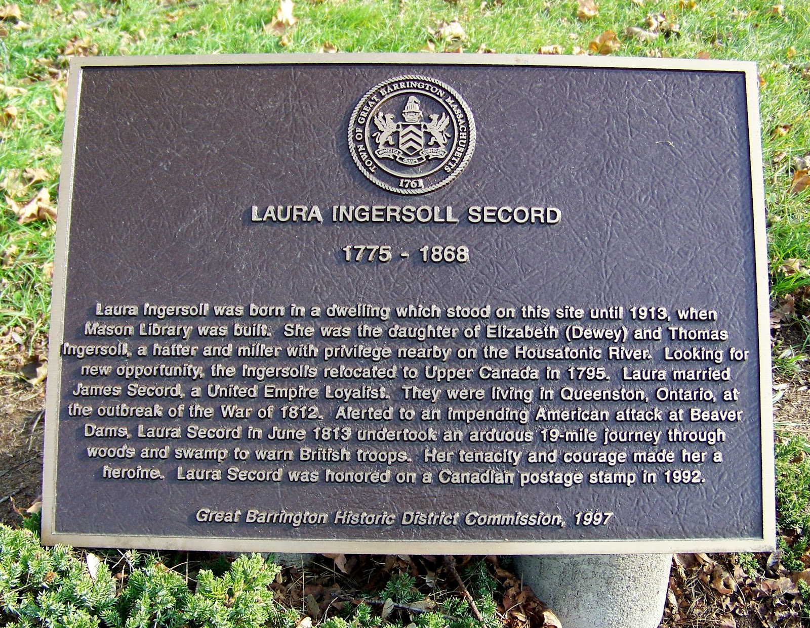 the life and contributions of laura secord The role of women in the war of 1812: laura secord lesson overview in this lesson we know their contributions were trivialized by those in command as very little was recorded about them the treatment of laura secord's after the war also.