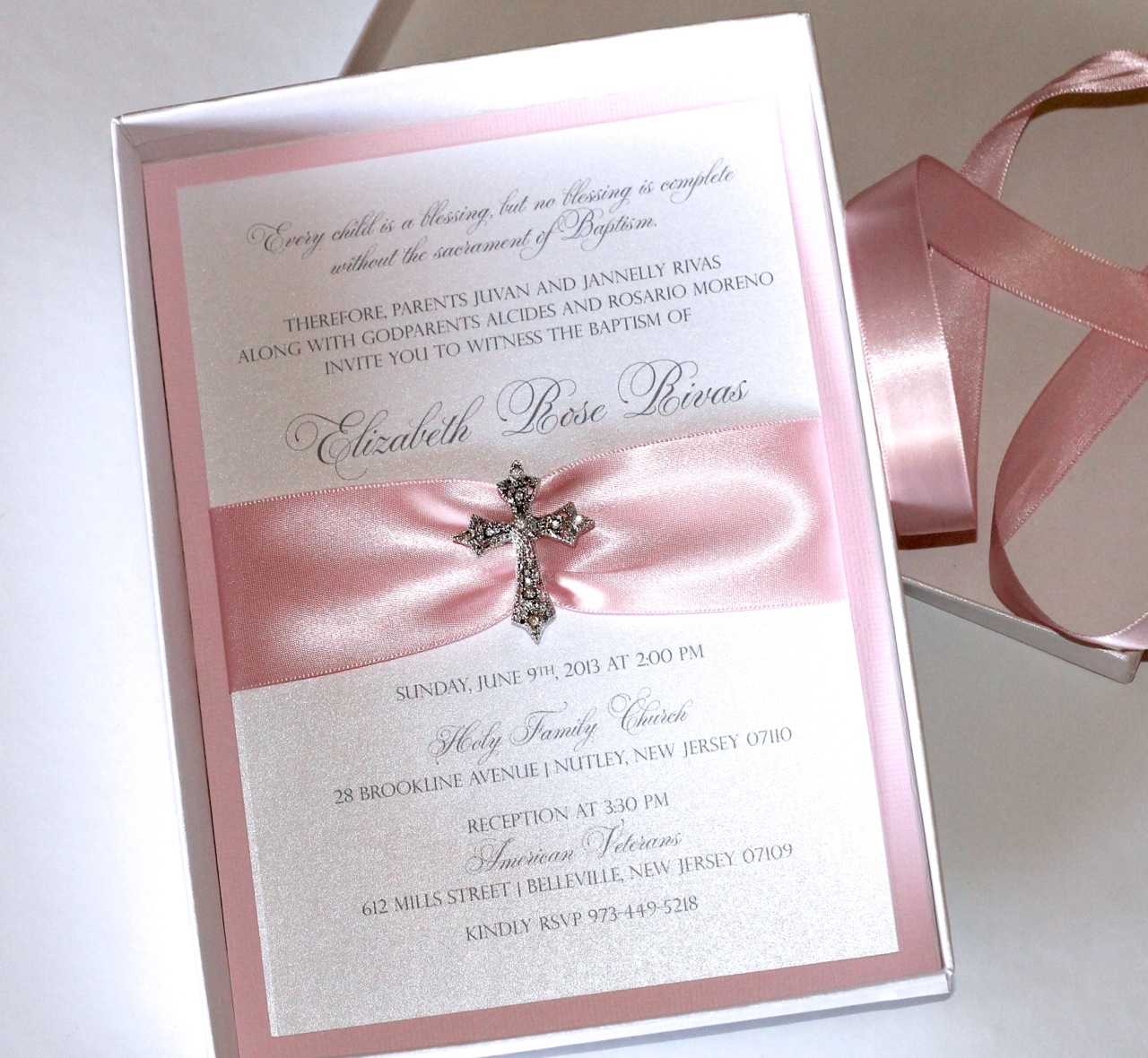 Custom Boxed Baptism Invitations Embellished Paperie LLC