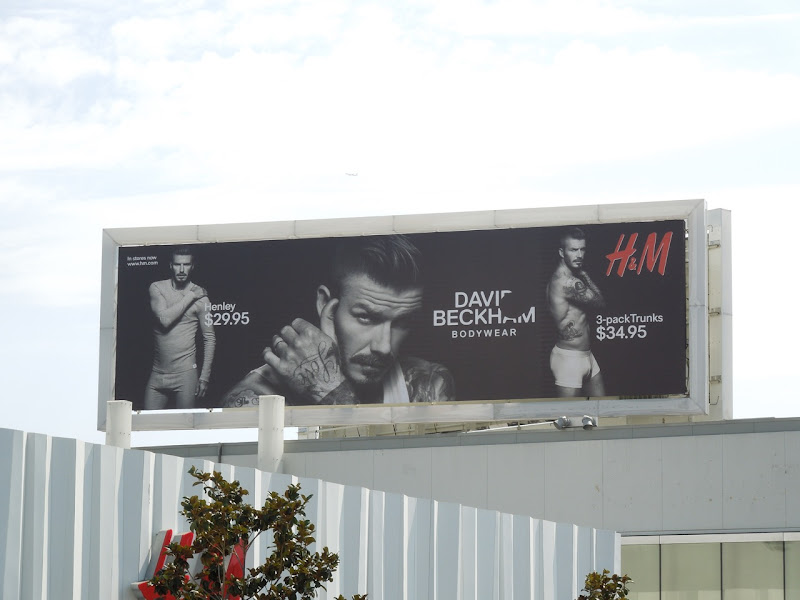 David Beckham Bodywear billboard