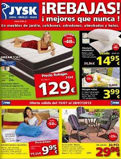 catalogo de rebajas jysk 15-7 2013